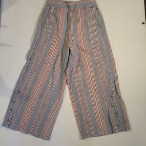 Madewell wide leg multicolor pants size xs